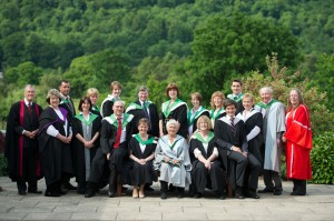 Dame Judie Dench pictured with some of our Dementia studies graduates following the ceremony on 26th June 2013